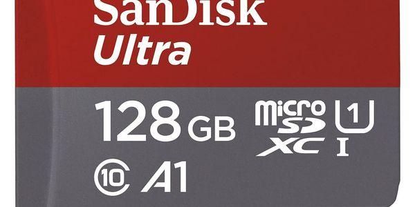 Paměťová karta Sandisk 128GB UHS-I U1 (100R/10W) + adapter (SDSQUAR-128G-GN6MA) černá2