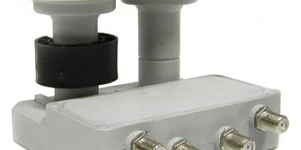 Konvertor Mascom LNB-MCM4QS01HD bílý