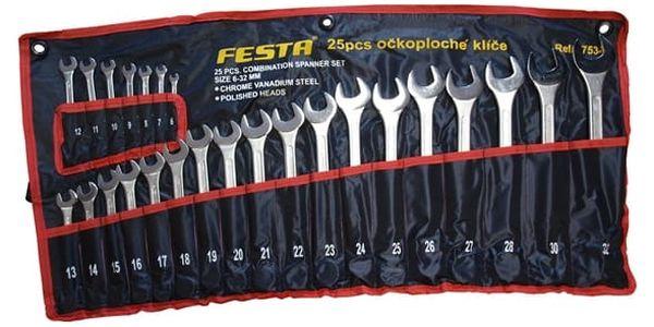 Sada klíčů Festa klíče OP 6-32 mm 25díl. šedá
