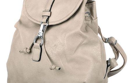 Jednoduchý batoh se zapínáním na sponu světle šedá