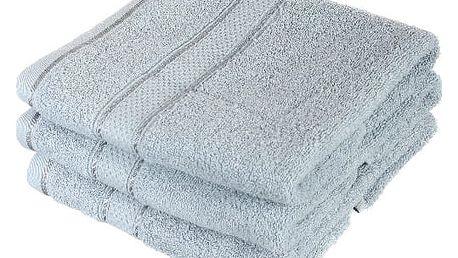 Froté ručník se vzorem Menheten světle šedá