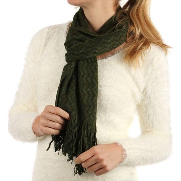 Pletená šála s třásněmi krémová2