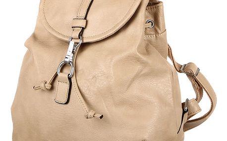 Jednoduchý batoh se zapínáním na sponu kapučíno