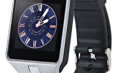 """Erenbach Smartwatch DZ09 silver + folie zdarma + BLACK FRIDAY: ZDARMA služba """"Výměna bez reklamace"""" v hodnotě 199 kč"""