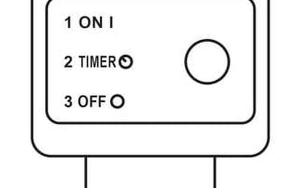 Vánoční osvětlení EMOS 150 LED, 15m, řetěz zelený (miniaturní), teplá bílá, časovač, i venkovní použití (1534191700)3