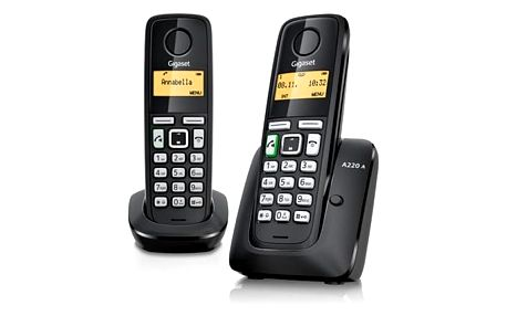 Domácí telefon Siemens Gigaset A220A DUO černý