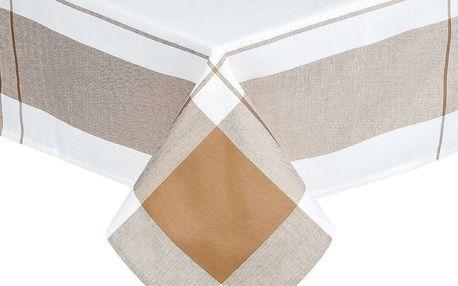 Forbyt Ubrus kostka béžová, 140 x 180 cm