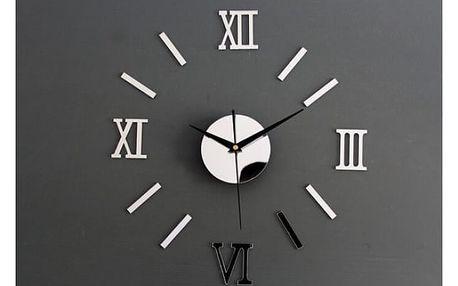 Nalepovací nástěnné hodiny se zrcadlovým efektem - dodání do 2 dnů