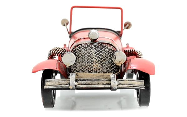 Dekorační model auta Cabrio, červená2