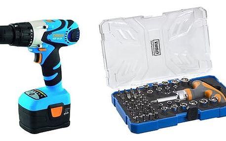 Set (Sada bitů Narex 61-Tool Box) + (Aku vrtačka Narex ASP 18-2A, 2 aku) + DOPRAVA ZDARMA