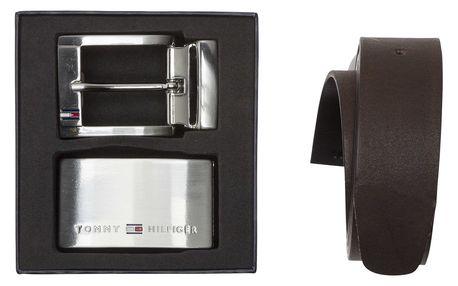 Tommy Hilfiger oboustranný kožený pánský pásek Double Buckle Giftbo