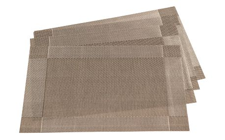 Jahu Prostírání Harmonie šedá, 30 x 45 cm, sada 4 ks