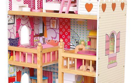 BINO Domeček s nábytkem (17 ks)