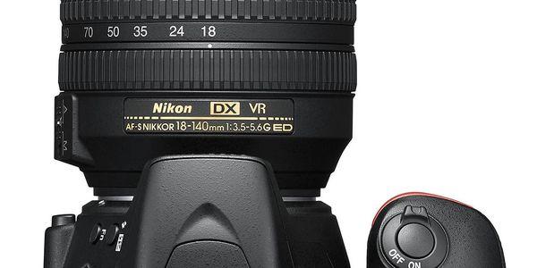 Digitální fotoaparát Nikon D5600 + 18-140 AF-S VR (VBA500K002) černý Dárkový poukaz Nikon 1000 Kč + DOPRAVA ZDARMA2
