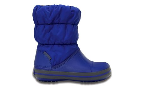 Crocs modré sněhule Winter Puff Boot Kids Cerulean Blue