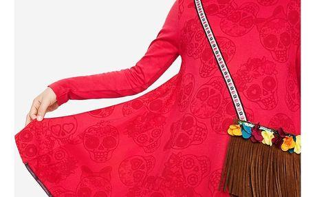 Desigual červené dívčí šaty Adís Abeba