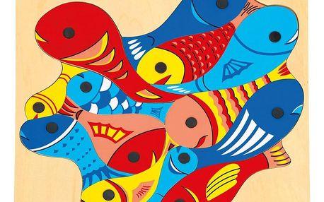 Bino Rybičky s udičkou-puzzle