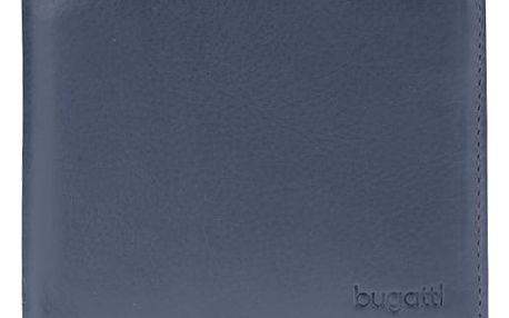 Tmavě modrá pánská kožená peněženka bugatti Sempre