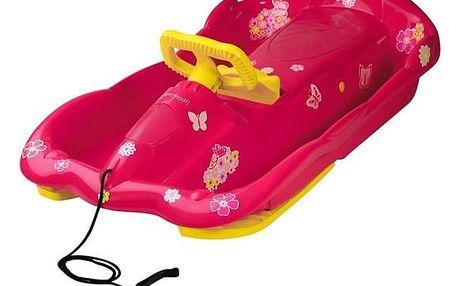 Boby AlpenGaudi AlpenSpace plastové s volantem růžové + Doprava zdarma