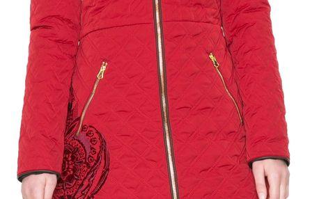 Desigual červený oboustranný kabát Azul