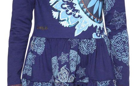 Desigual modré dívčí šaty El Cairo