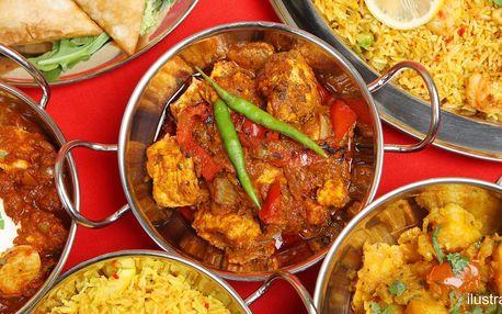 Indian Mini Thali: 2 různě vonící indická menu