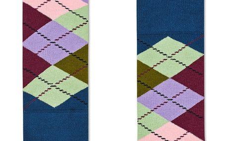 Happy Socks barevné dámské ponožky s károvaným vzorem Argyle
