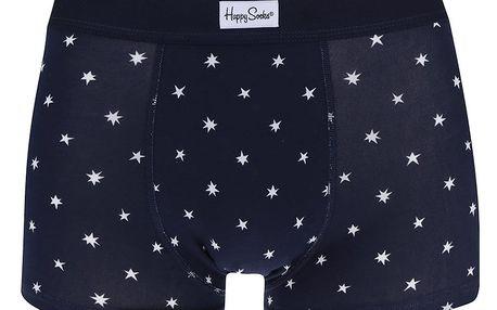 Tmavě modré pánské boxerky s hvězdami Happy Socks Twinkle
