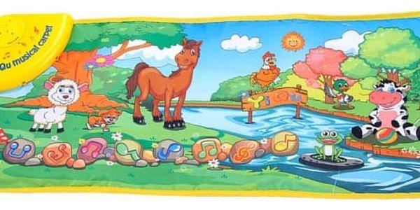 Dětský hudební kobereček - Zvířátka u potoku