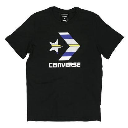 Pánské tričko Converse Star chevron Stripe Fill tee černé L