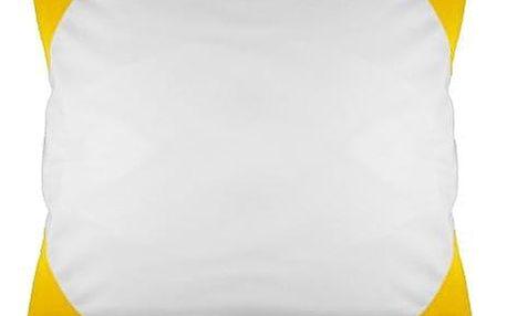Povlak na polštář FUNKY, žlutý 40x40 cm