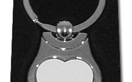 Přívěsek na klíče kovový - srdce 01
