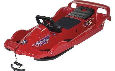 Boby AlpenGaudi AlpenDoubleRace plastové s volantem červené + Doprava zdarma