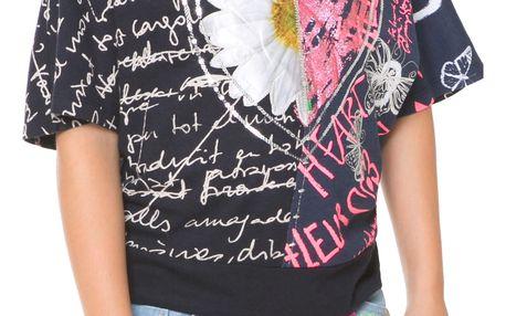 Desigual černé dívčí tričko Kitchener