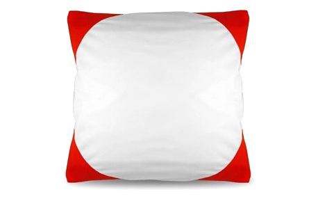 Povlak na polštář FUNKY, červený 40x40 cm