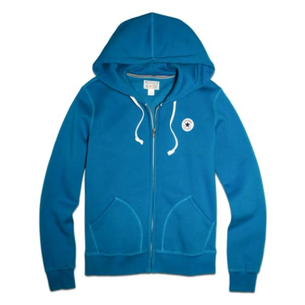Dámská mikina Converse AWK Core Full zip HOODIE Modrá S