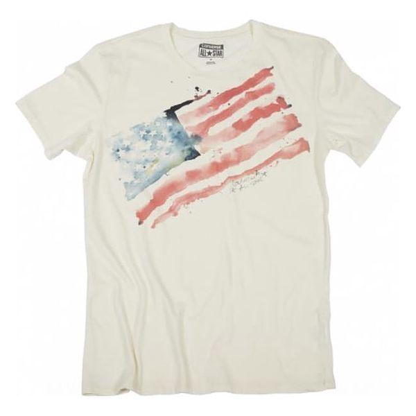 Pánské tričko Converse AWT W20 watercolr flag bílá M