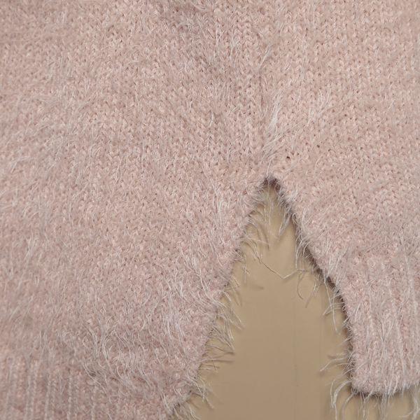 Světle růžový holčičí svetr s průstřihy na ramenou Blue Seven3