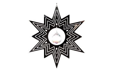 Závěsná dekorace Cosmo Spinner hvězda s krystalkem