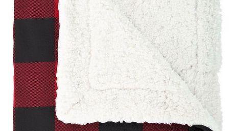 Mistral Home Beránková deka Scot army červená, 150 x 200 cm