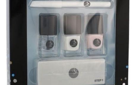 2K Let´s Get Colourful! 5 ml dárková kazeta dárková sada pro ženy lak na nehty 3x 5 ml + tužka na nehty 2 g + pilník na nehty 1 ks