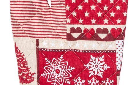 Trade Concept Chňapka Vánoce červená, 17 x 30 cm
