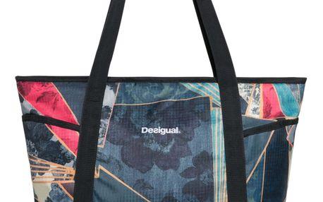 Desigual barevná sportovní taška Carryall Dark Denim