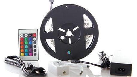 Solight LED pás, RGB, 3m,adaptér a dálk. ovladač, 7,2W/m,WM55