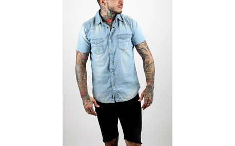 Košile Alcott SHORT SLEEVE DENIM SHIRT Modrá