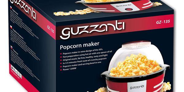 Popkornovač Guzzanti GZ 135 červený3