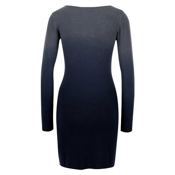 Tmavě modré svetrové šaty s ombré efektem Desigual Málaga2
