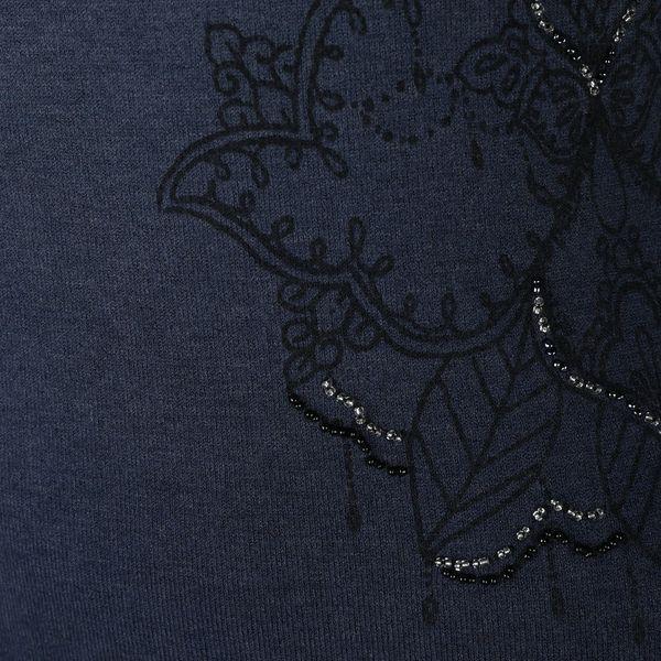 Tmavě modré svetrové šaty s ombré efektem Desigual Málaga3