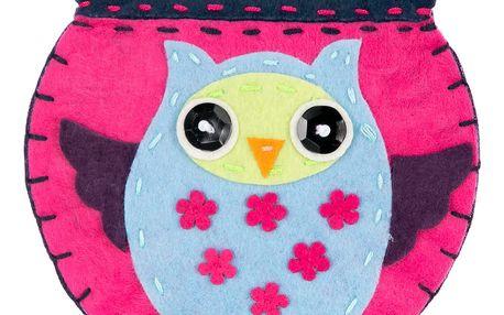 Peněženka HANDMADE sova růžová na magnet