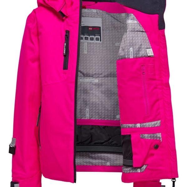 Dívčí lyžařská bunda LEGO® Wear JENNY 880 Růžová 1524